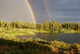 Double Rainbow over Lake - Jerry Kaiser