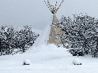 Snow Covered TeePee - Cynthia Nelson