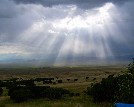 Sunrays through clouds, San Luis Valley -