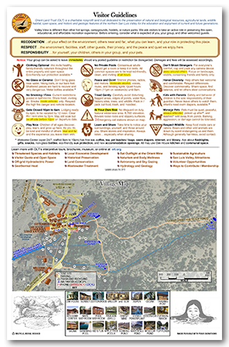 Visitor Guidelines and Map