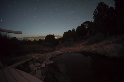 Night sky over the Meadow Pond