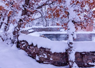 Snow Covered Swimming Pool
