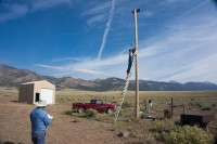 Installing weather station at Hydroelectric Plant