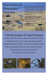 Bird Watching Workshops Scheduled for May!
