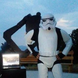 Mark Cunningham dressed as a Storm Trooper for OLT Science Camp