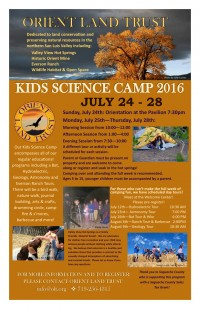 Science Camp 2016 Poster